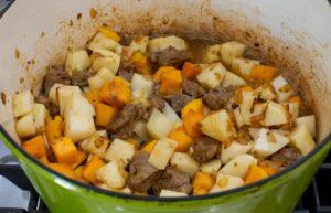beef, potato and squash