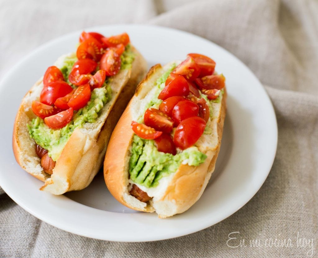 Chilean Completos or Hot Dogs