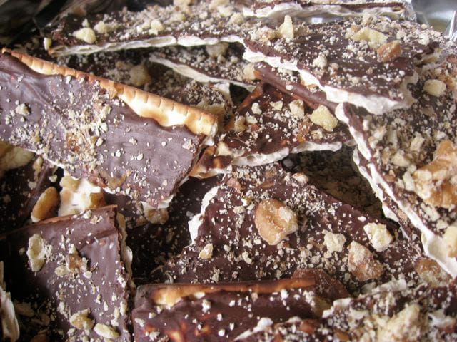 Matzá con chocolate