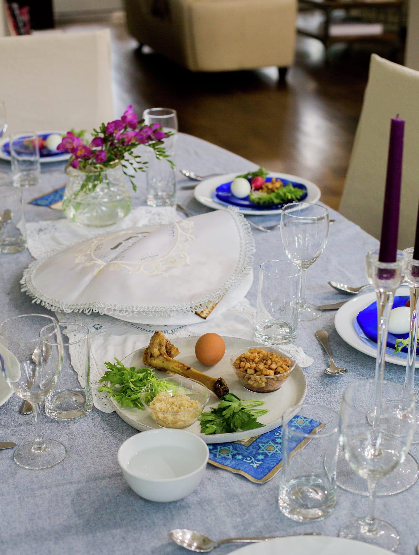 Mesa de Seder de Pesaj