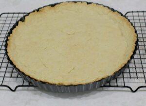 Baked tart dough
