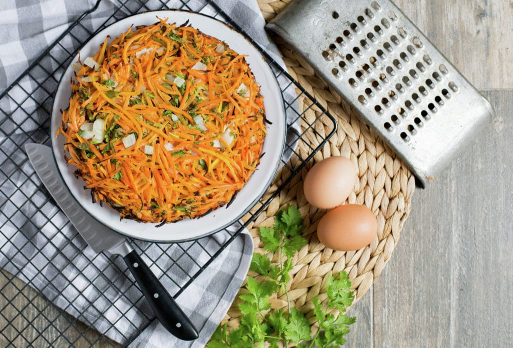 Chilean Carrot Frittata, Tortilla de Zanahoria