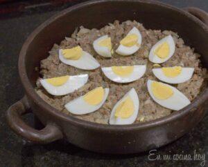 Eggs quartered