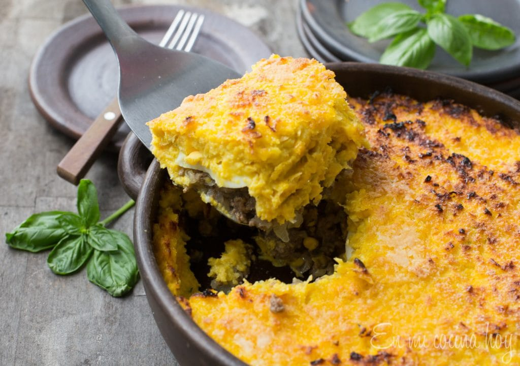 "Corn and Beef Pie ""Pastel de Choclo"""