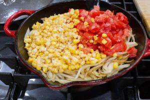 add corn and tomato