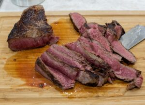 Meat sliced