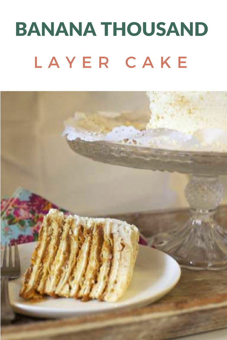 Banana One Thousand Layers Cake