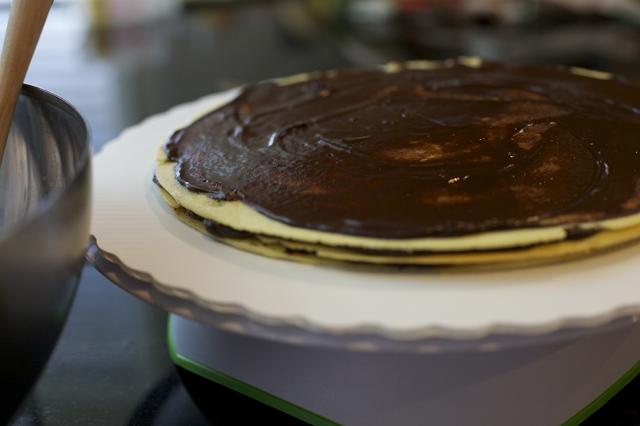 relleno torta panqueque trufa