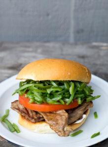 Chacarero Chilean sandwich