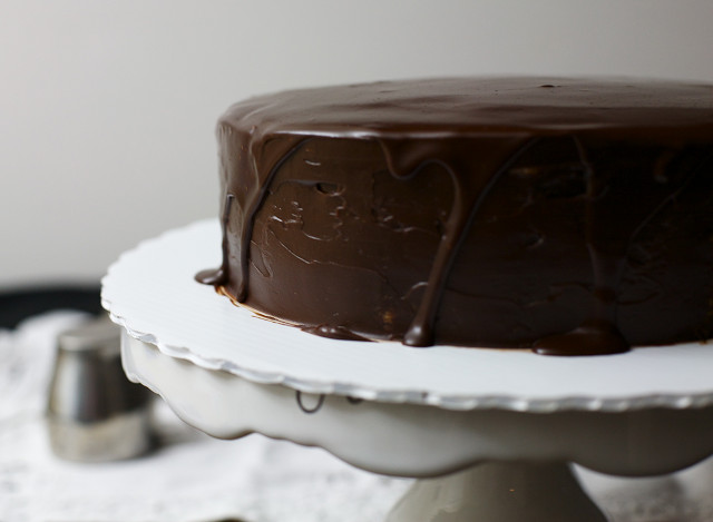 Thin Layer Chocolate Truffle Cake