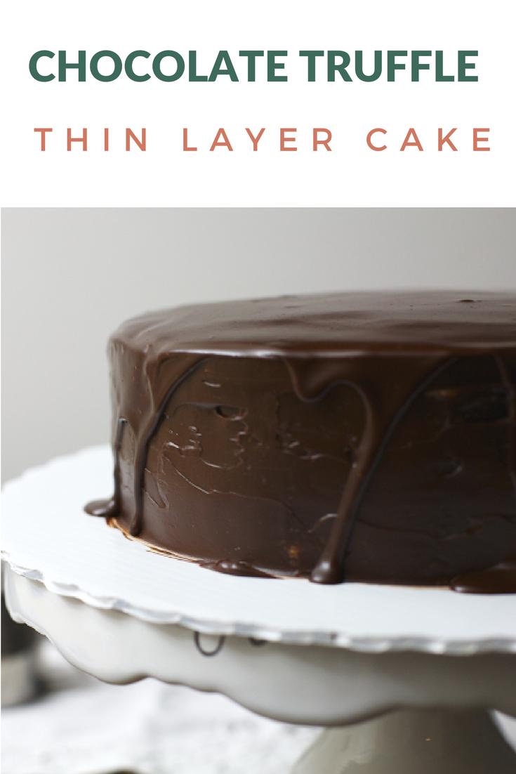 Thin Layer Chocolate Truffle Cake