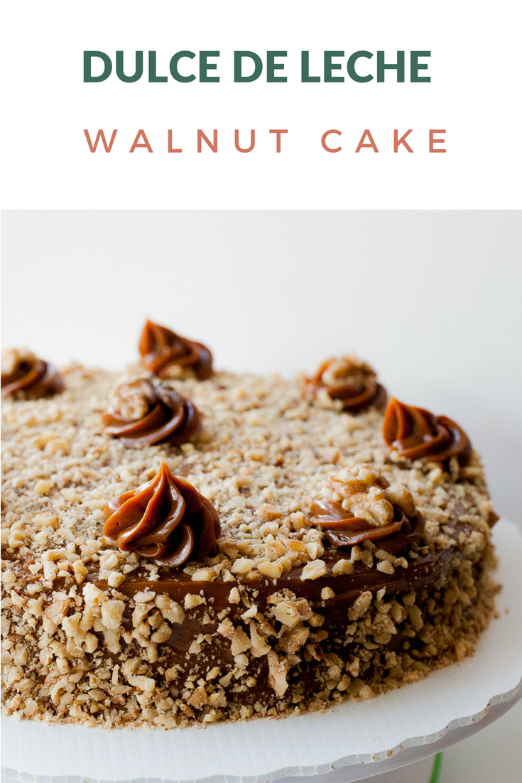 Dulce de Leche Walnut Cake