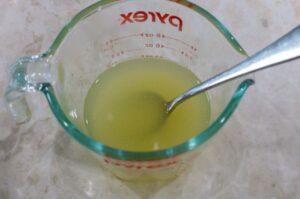 dissolved gelatine