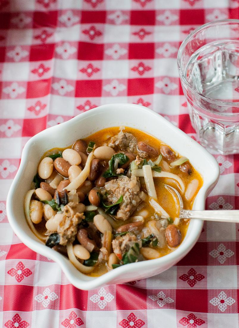 Winter Bean soup, Chilean style