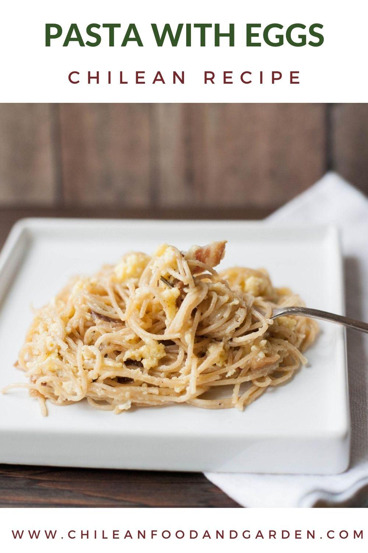 Pasta with eggs or Tallarines con huevo