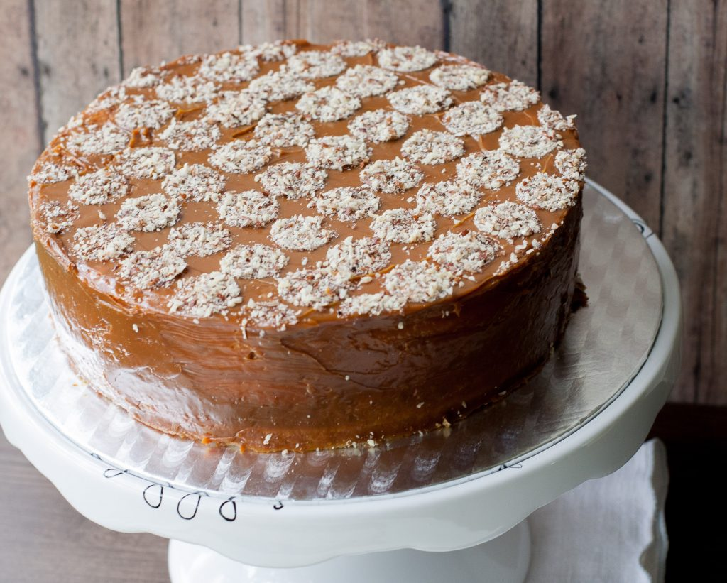 Dulce de Leche Walnut Layer Cake