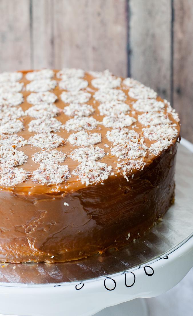 Dulce de Leche Walnut Layer Cake