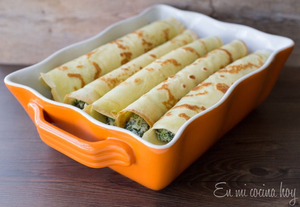 Spinach and Ricotta Stuffed Crepes