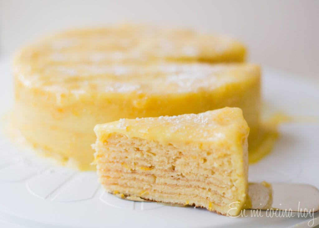 Orange Thin Layer Cake