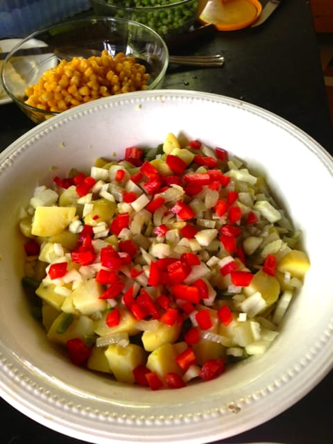 Russian Potato Salad, Chilean recipe