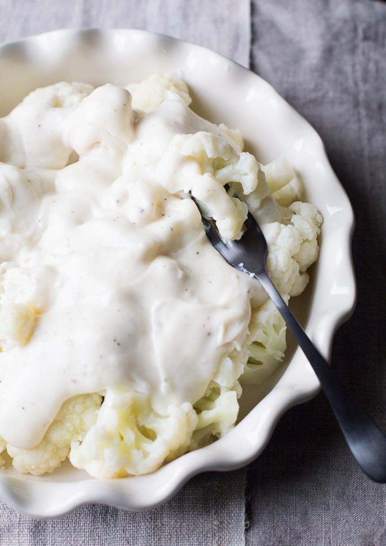 Cauliflower with White Sauce Bechamel