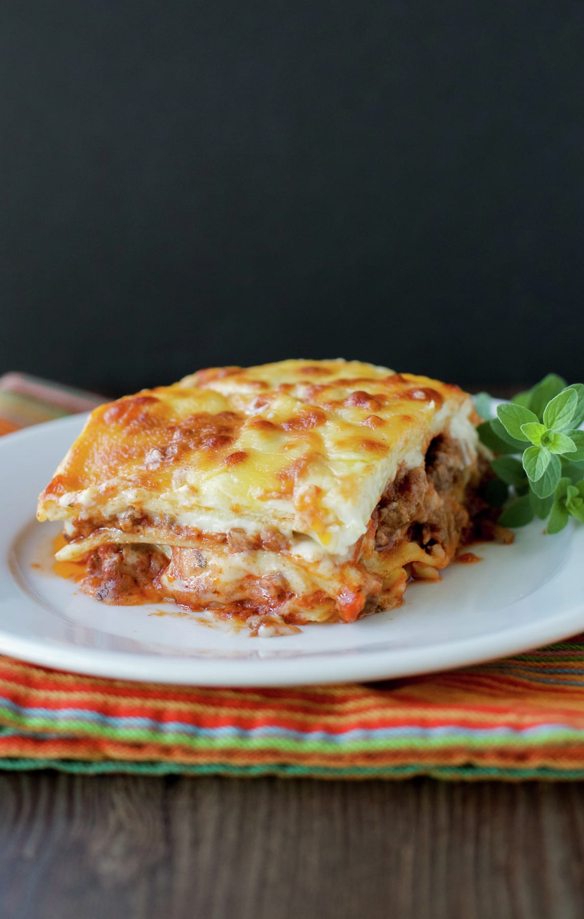 Lasagna with White Sauce and Bolognese Sauce