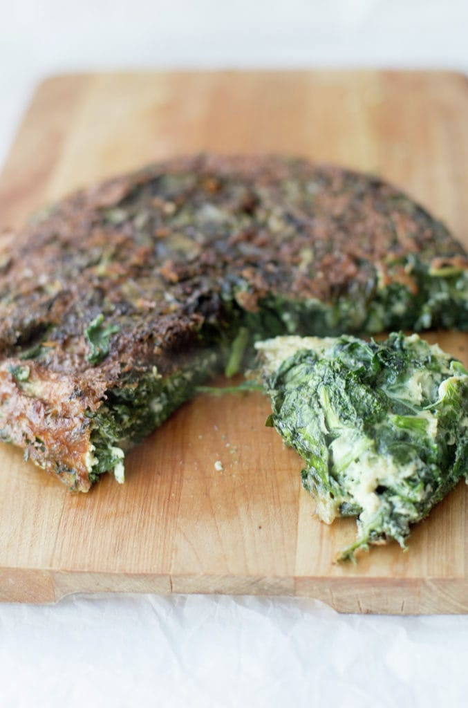 Spinach and Kale Tortilla