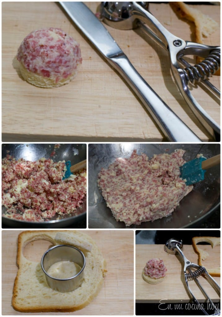 Salami Cheese Spread for sandwiches