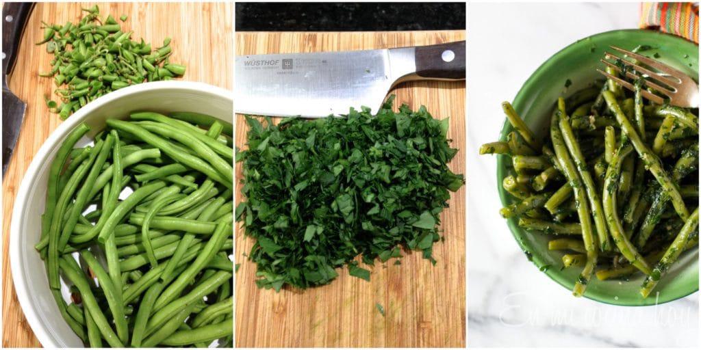 Ensalada de porotos verdes chilena