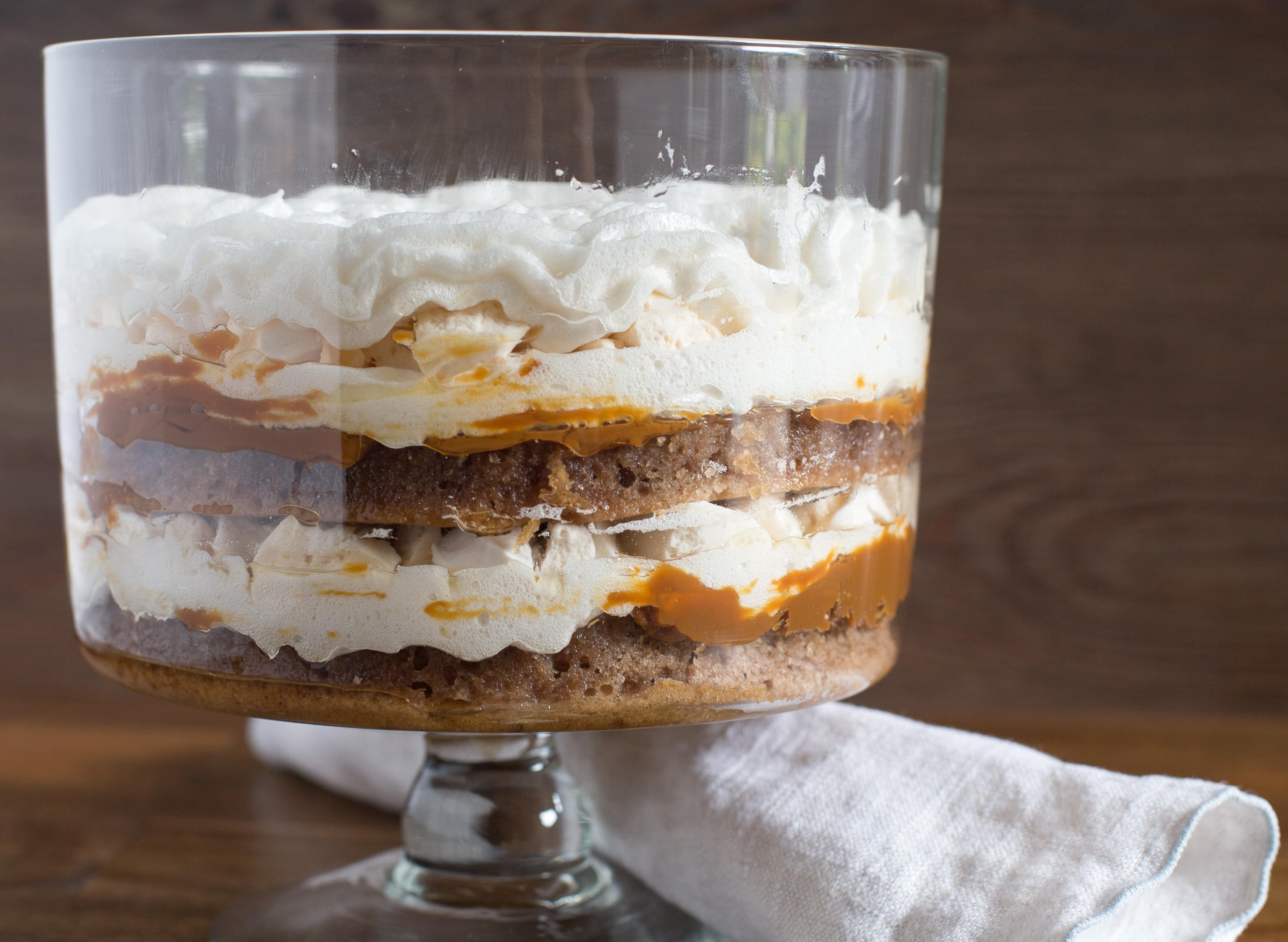 Walnut Dulce de Leche Meringue Cake