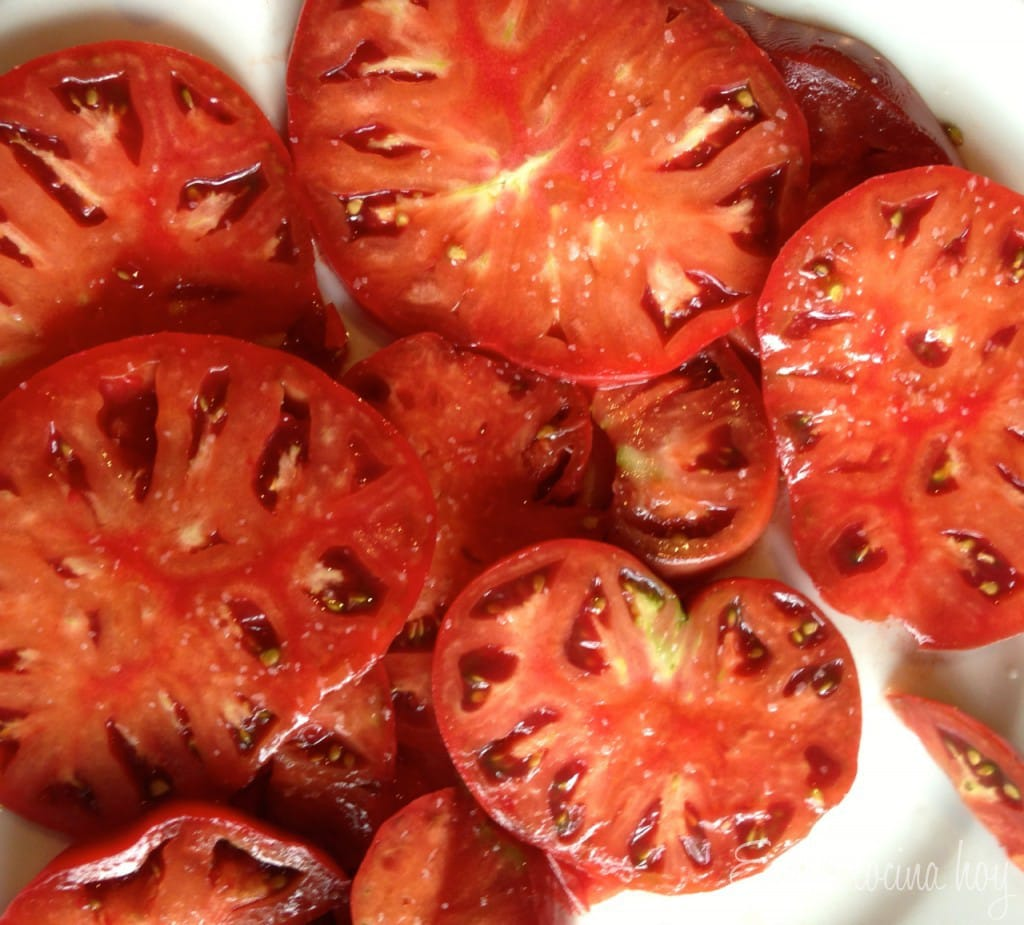 Chilean Salad: Tomatoes and onions