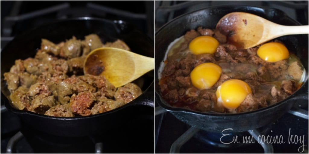 Chilean sausage Longaniza with Eggs