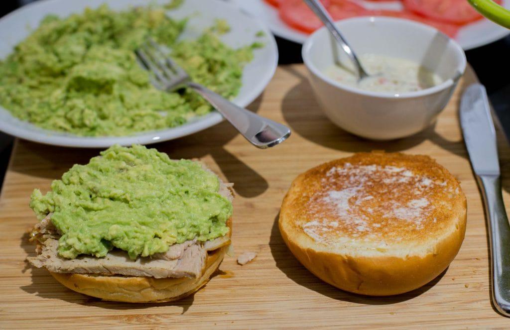 Lomito casero, sandwich chileno