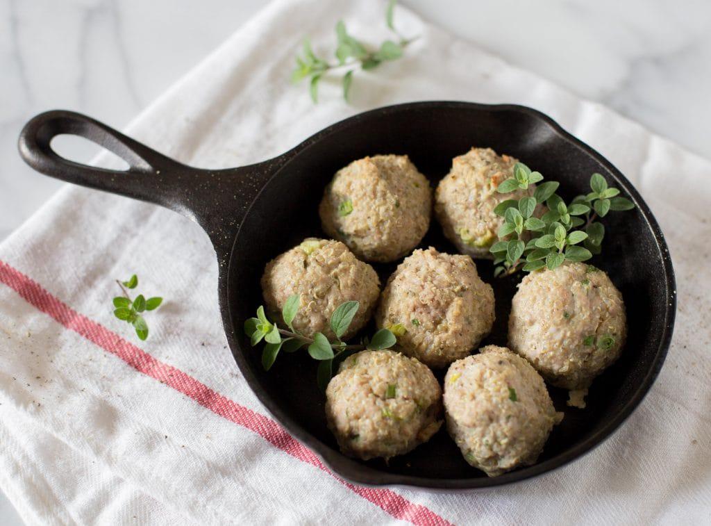 Pork Quinoa Meatballs