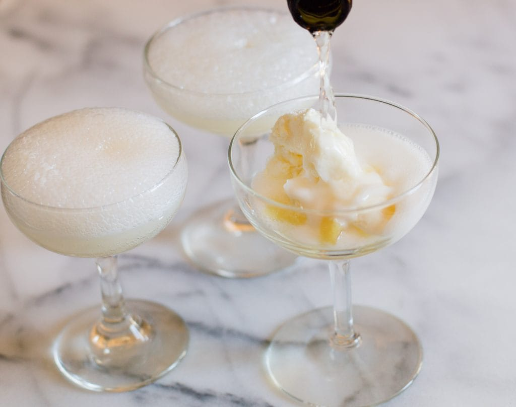 Pineapple Sorbet Champagne Float