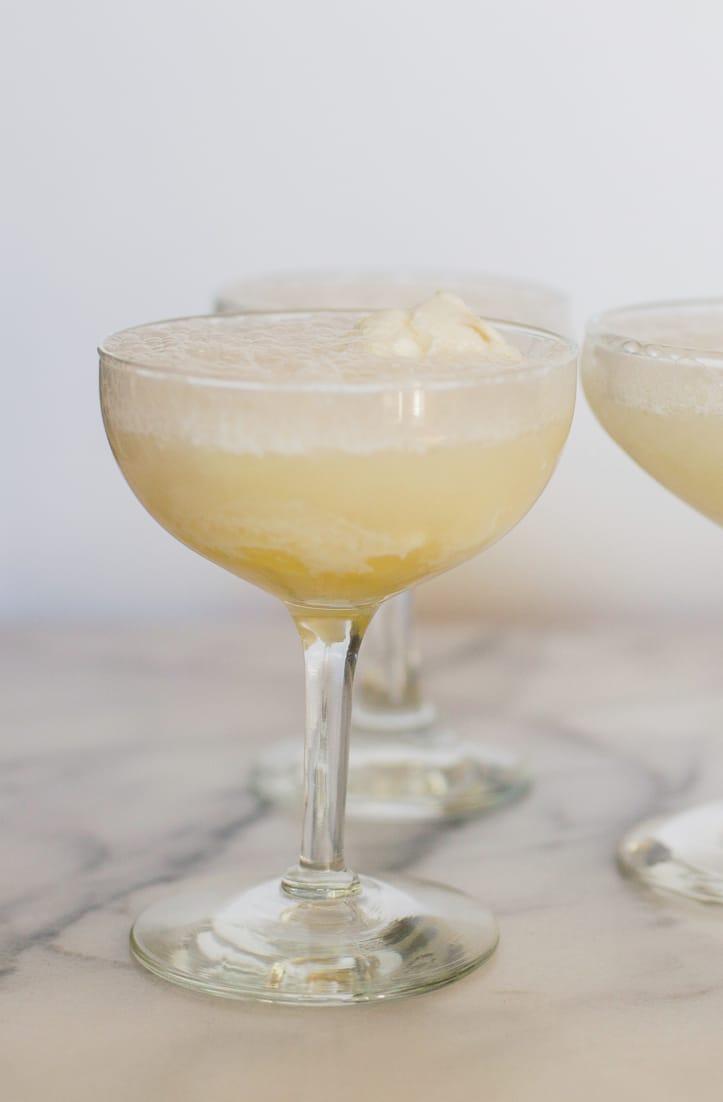 Pineapple Sorbet Champagne Float