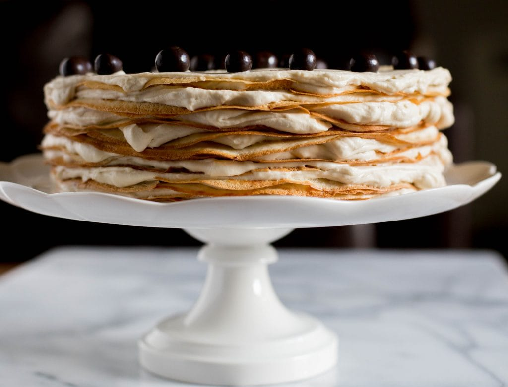 Coffee Mille Crepe Cake