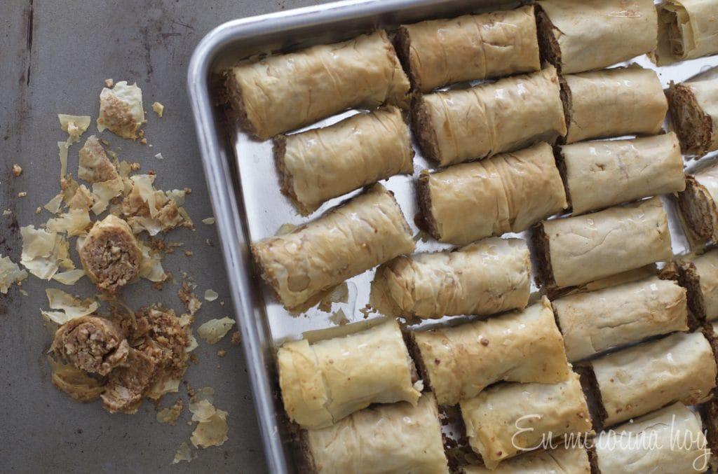 Easy Baklava Rolls