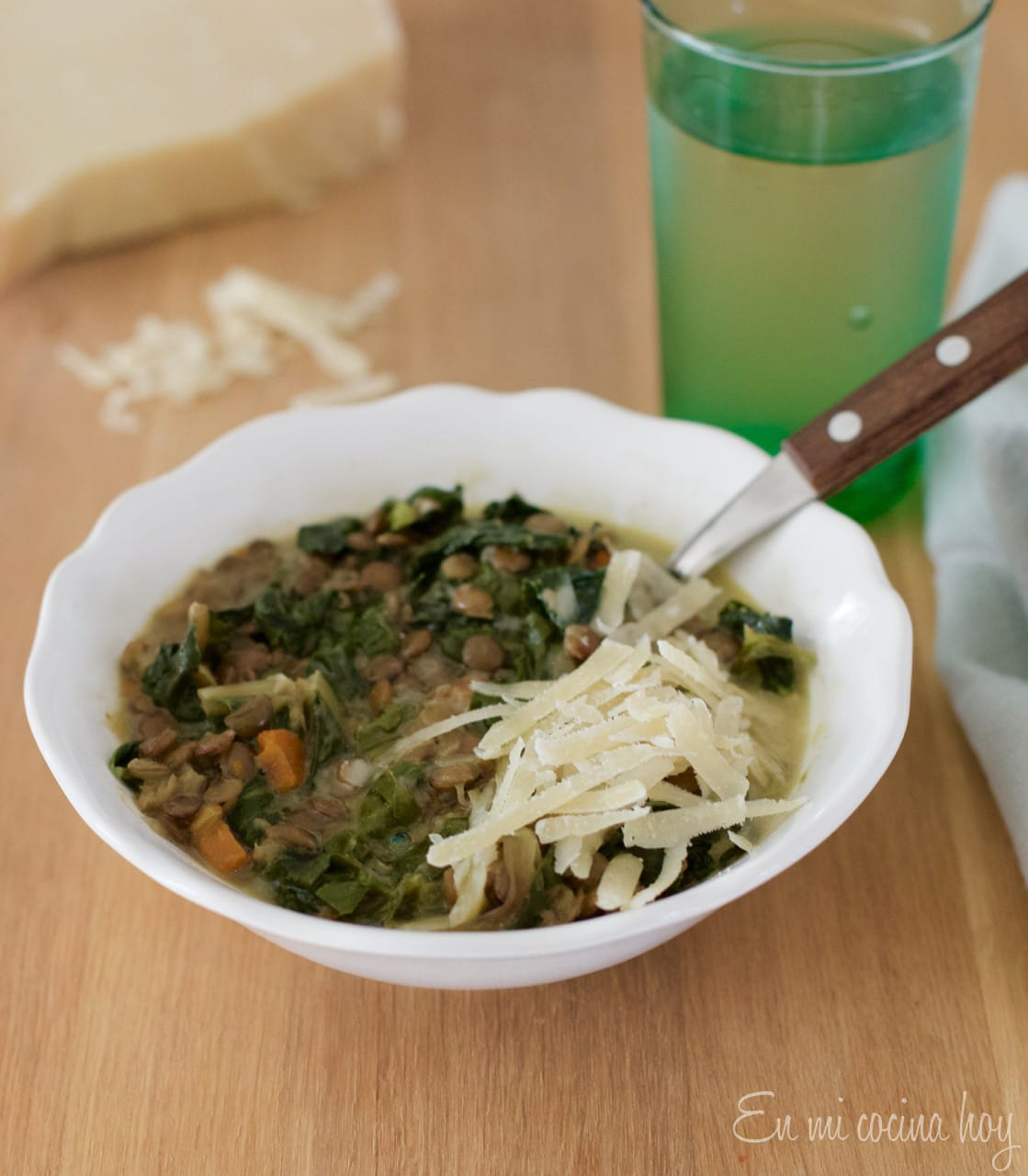 Lentil Soup With Swiss chard, Chilean Recipe
