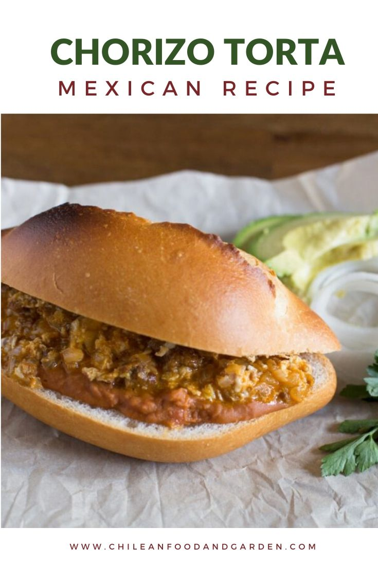 Mexican Torta With Eggs and  Chorizo