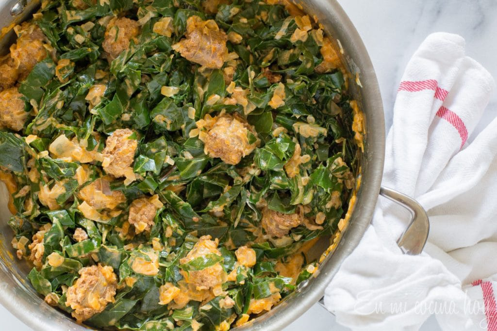 Sautéed Swiss Chard with Chorizo