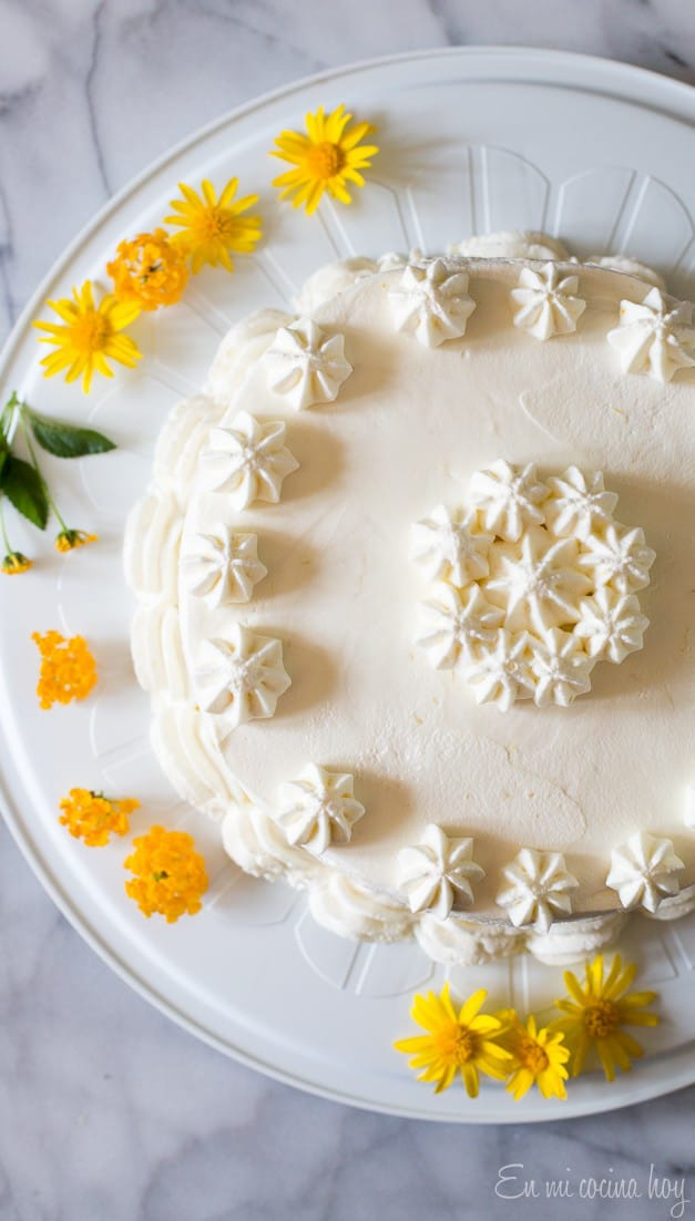 Lemon Pisco Sour Cake
