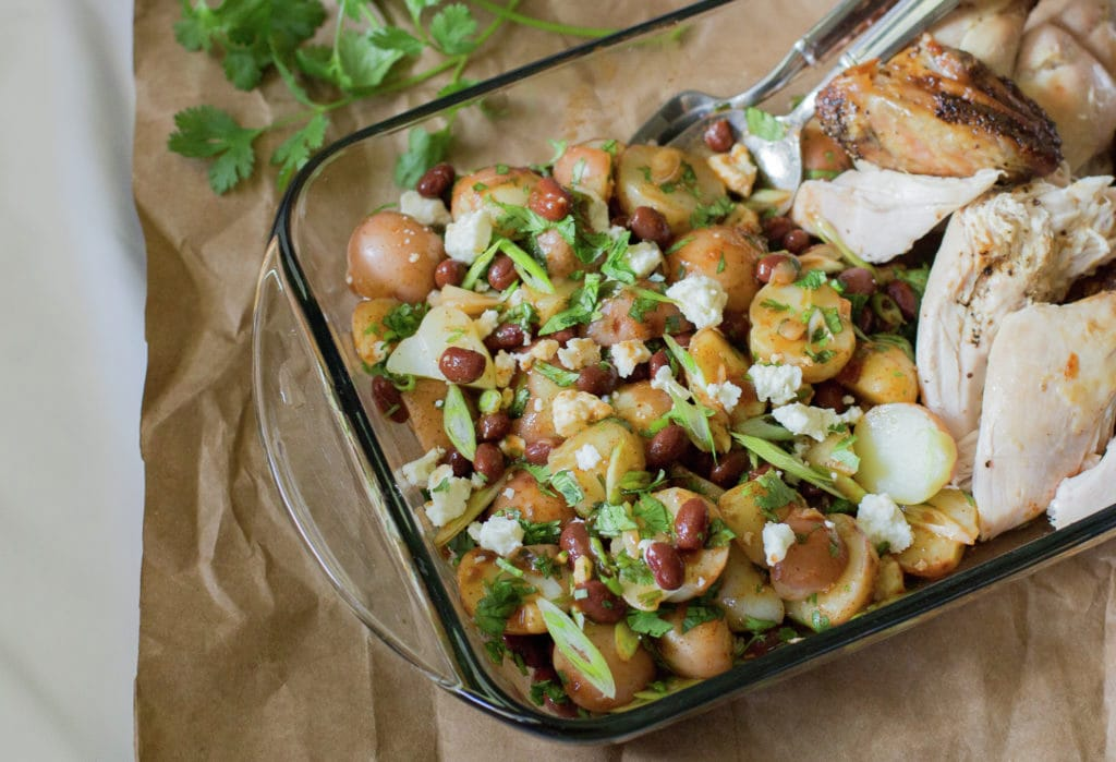 Spicy Bean Potato Salad