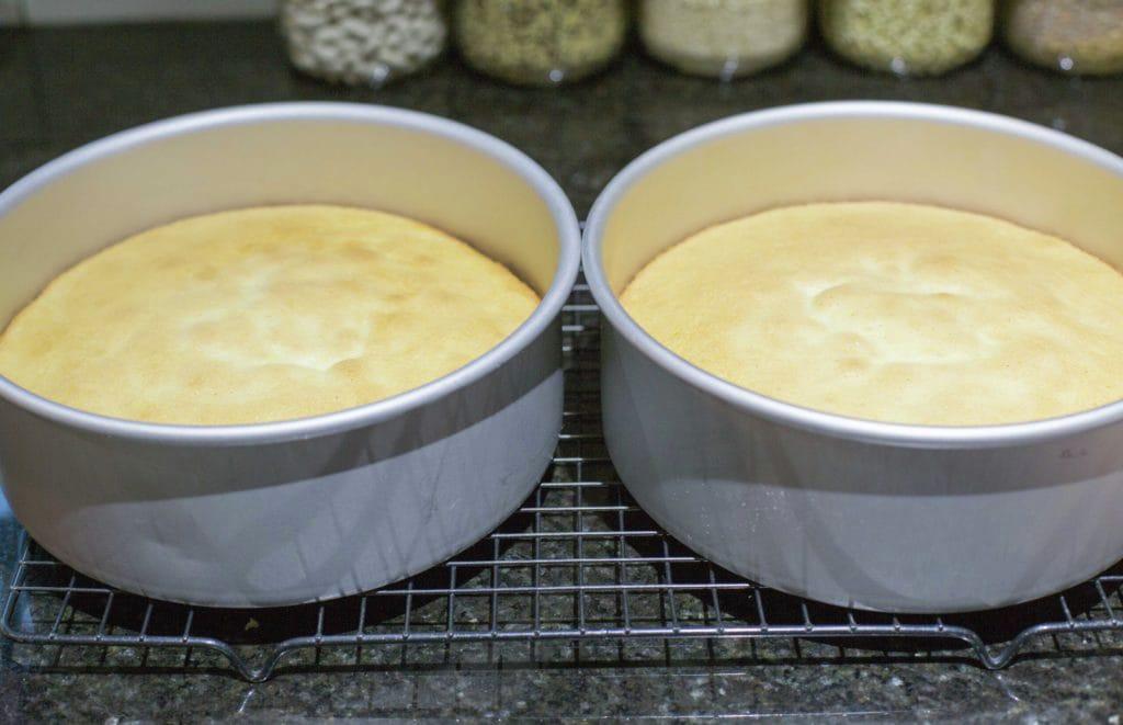Torta de duraznos con crema