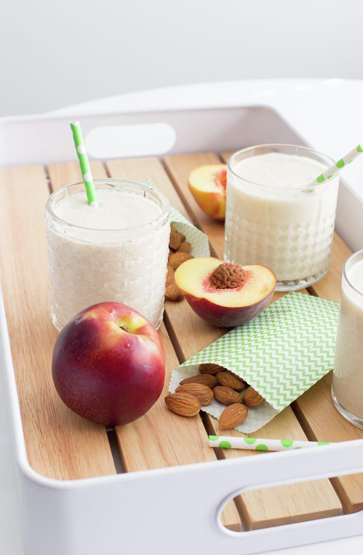 Milk with Peaches. #ad #FuertesConLeche