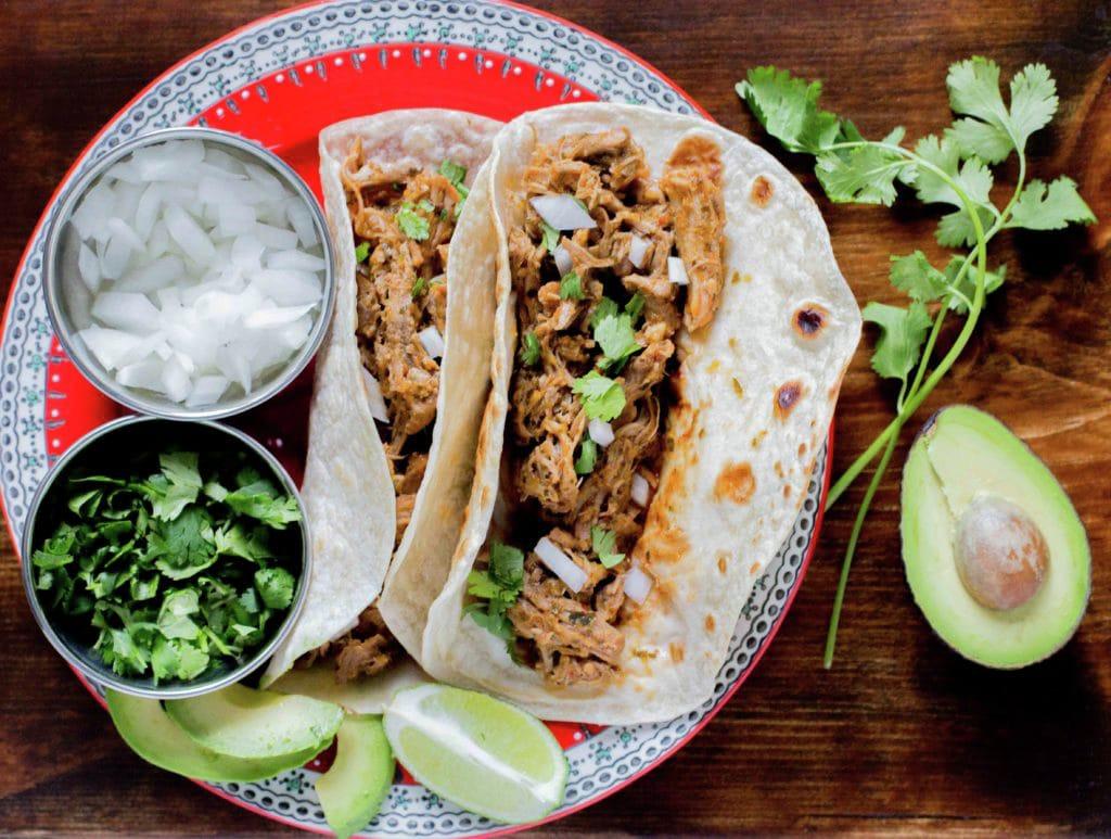 Authentic Pork Tacos or Tacos de Puerco