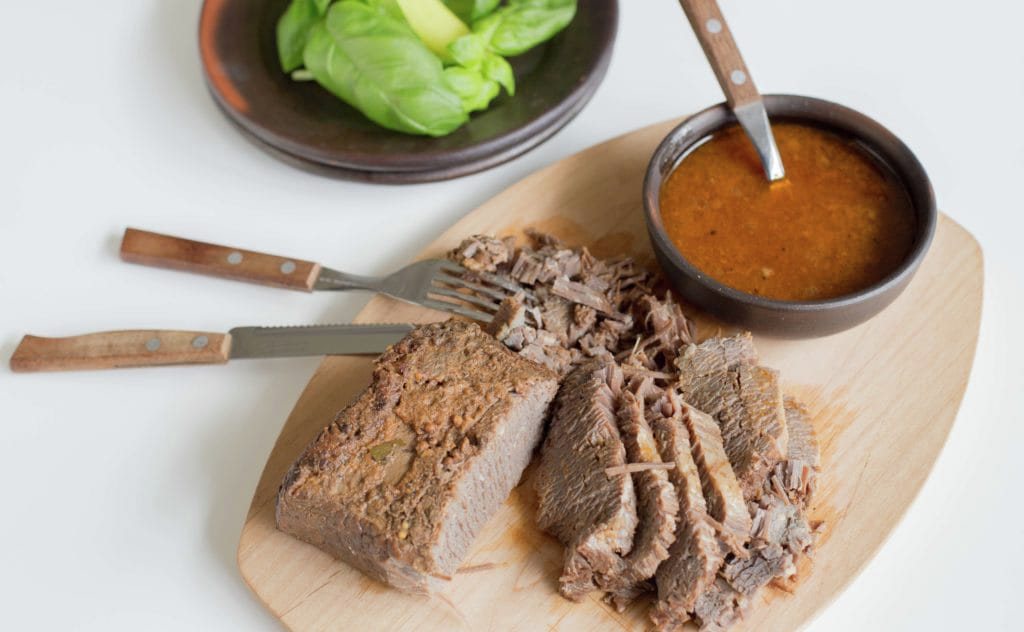 Braised brisket, Chilean recipe