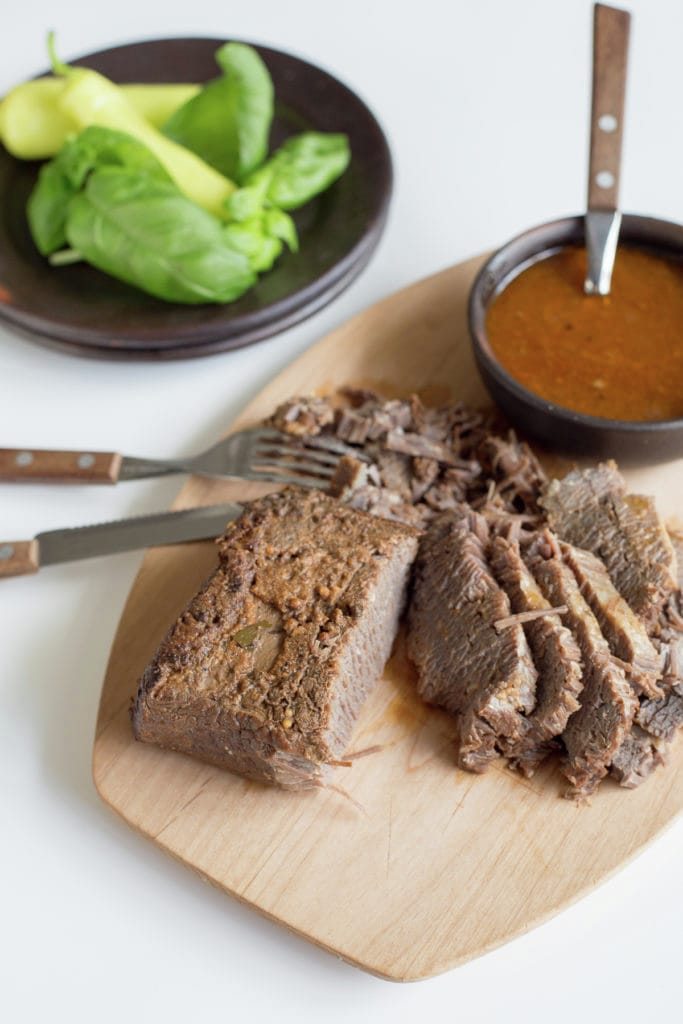 Braised brisket, Chilean style