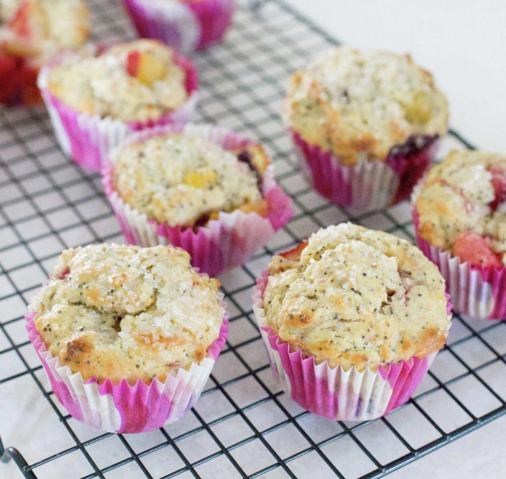 Muffins de ciruela y amapola