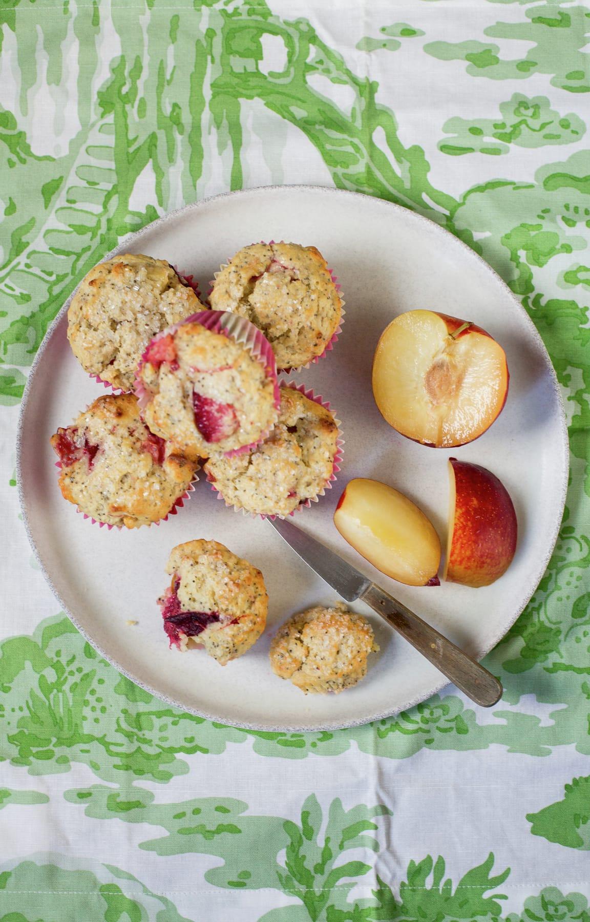 Plum poppy seeds muffins